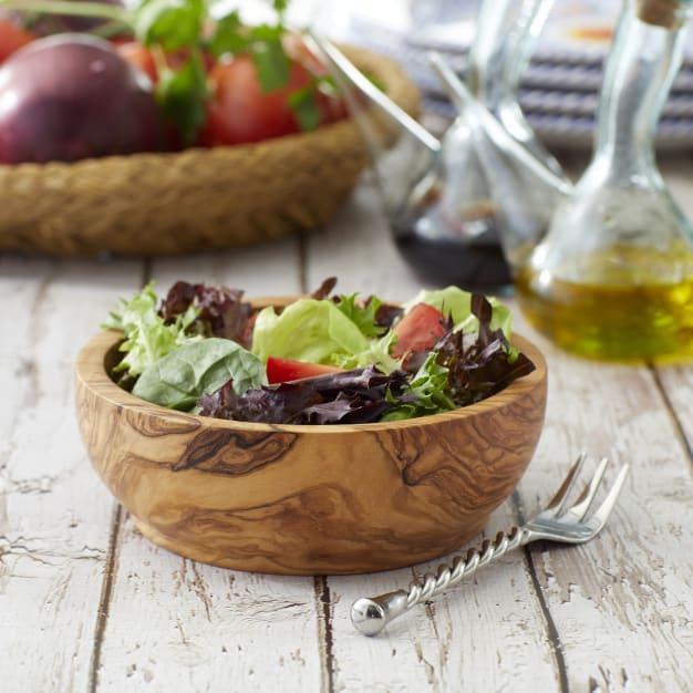 Image for Individual Olive Wood Salad Bowl