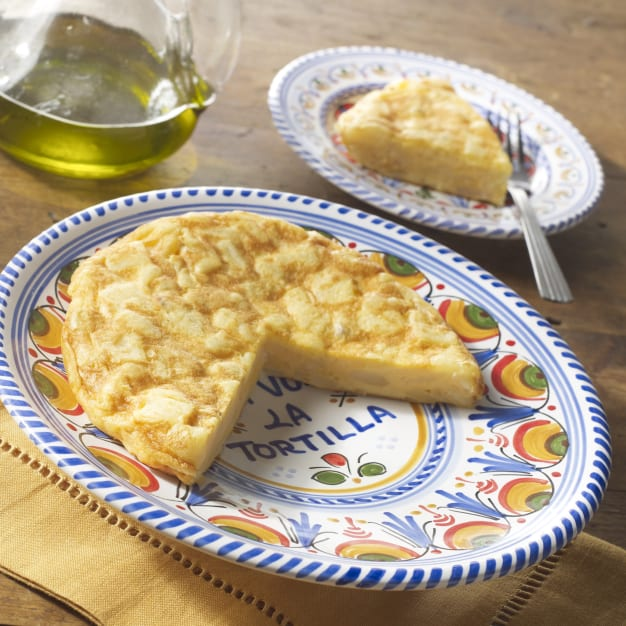 Image for Tortilla Española Omelets and Ceramic Serving Plate