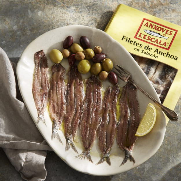 Image for Artisan Anchovy Fillets in Sea Salt from L'Escala