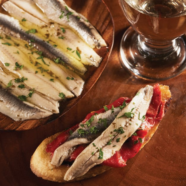 Image for Boquerones White Anchovies in Olive Oil and Vinegar