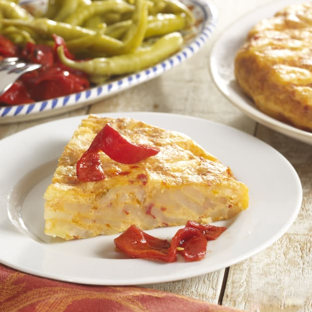 Image for Tortilla Española Potato Omelet with Bell Peppers by Peregrino