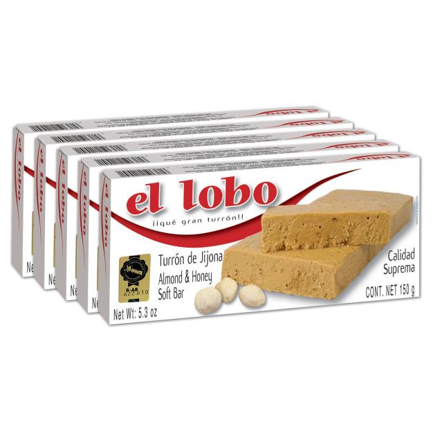 Image for 5 Boxes of Jijona Turron by El Lobo