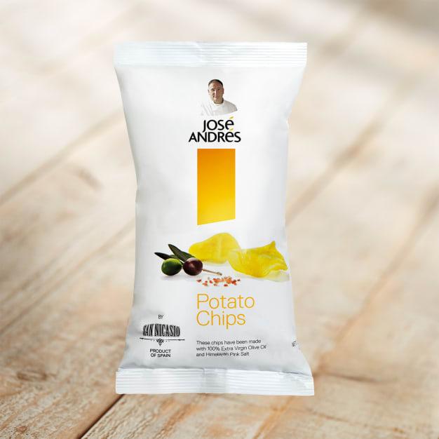 Image for Extra Virgin Olive Oil Chips by José Andrés Foods - 1.4 oz ea