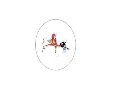 Plato de melamina hondo de 25cm