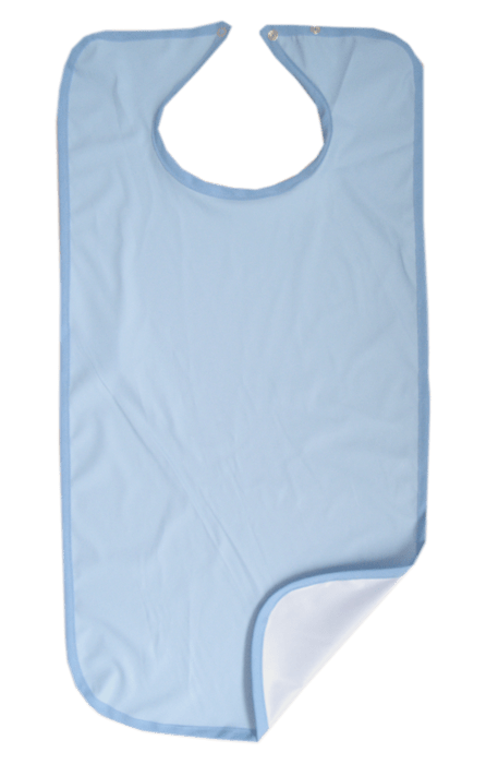 Babero microfibra azul liso Confort Plus