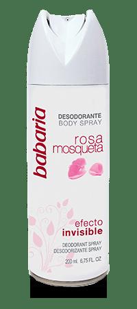 Desodorante en spray de rosa mosqueta