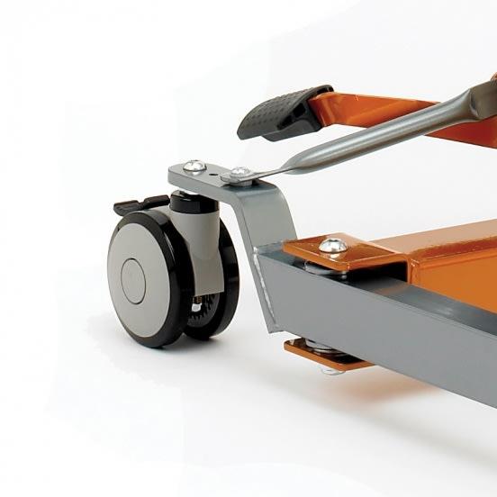 rueda trasera para grúa de 100mm con frenos