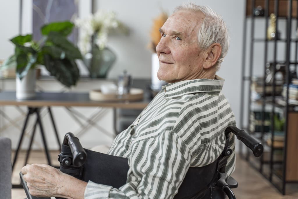 silla de ruedas ancianos