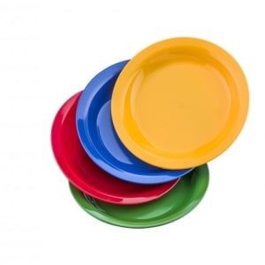 Plato llano cadete policarbonato de colores