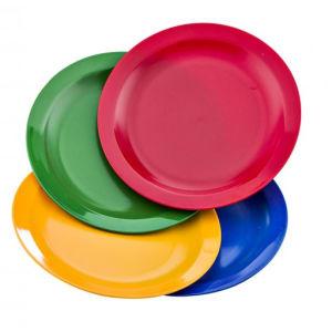 Plato llano policarbonato de colores