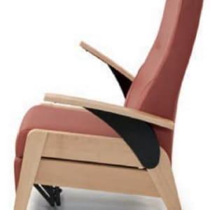 Sillón reclinable manual con reposapiés incorporado