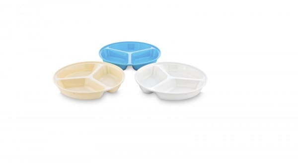 Plato policarbonato de 3 compartimentos