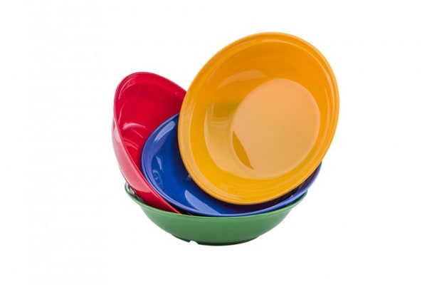 Plato hondo policarbonato colores