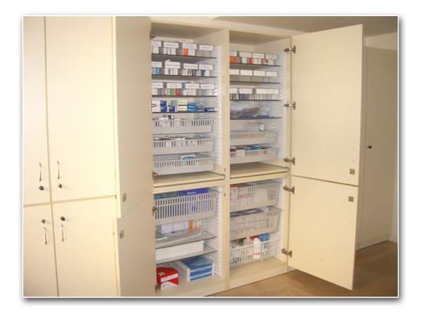 Armarios para el almacenaje de medicación