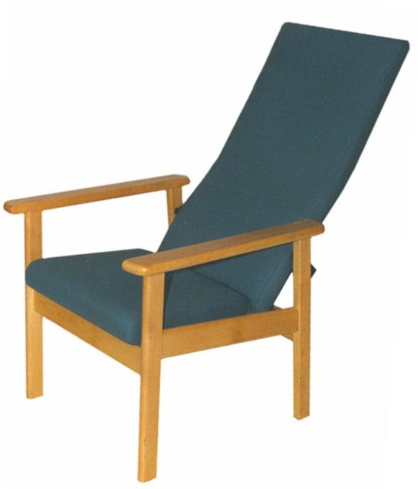 Sillón ergonómico de respaldo alto reclinable manualmente