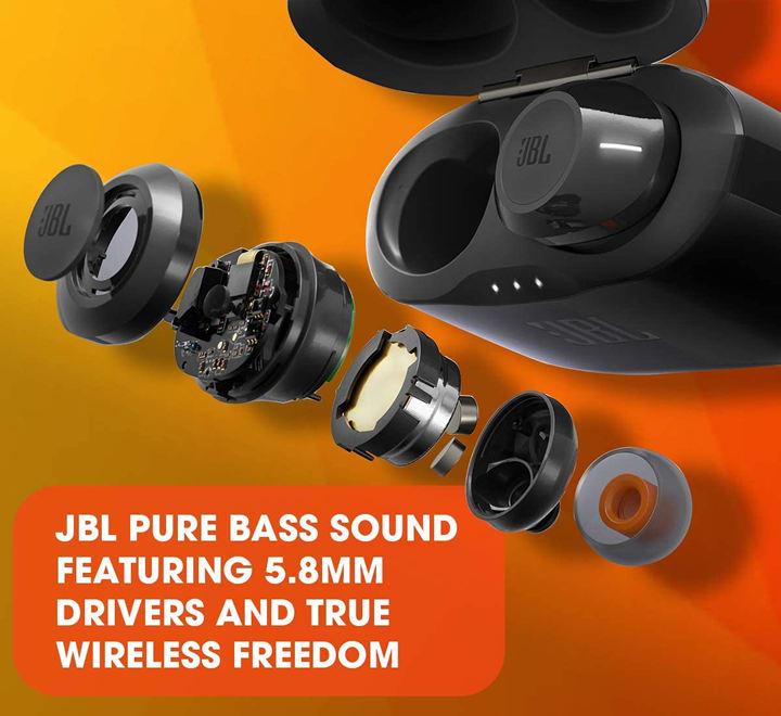 Auriculares in-ear inalámbricos JBL Tune T120TWS color Negro