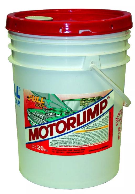 Full Car Motorlimp Desengrasante Limpia Motores balde 20lts
