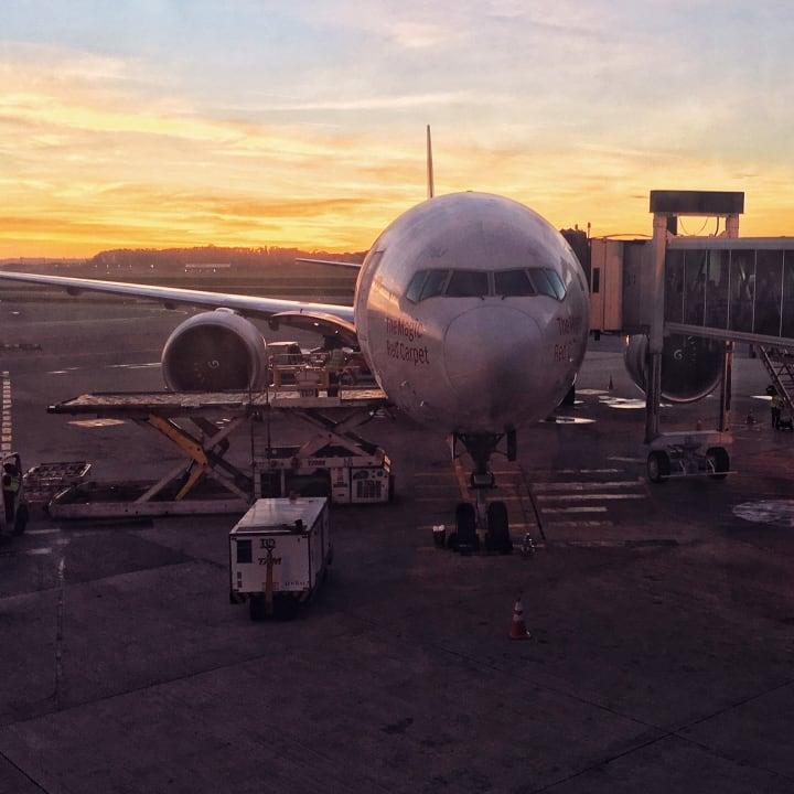 Plane at its gate at São Paulo–Guarulhos International Airport