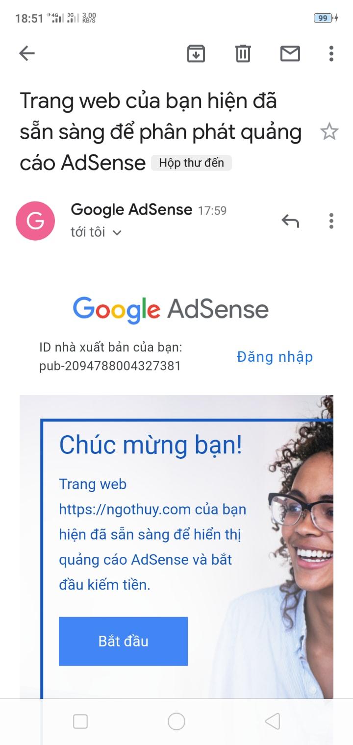 Google AdSense duyệt theanimaltoday.com
