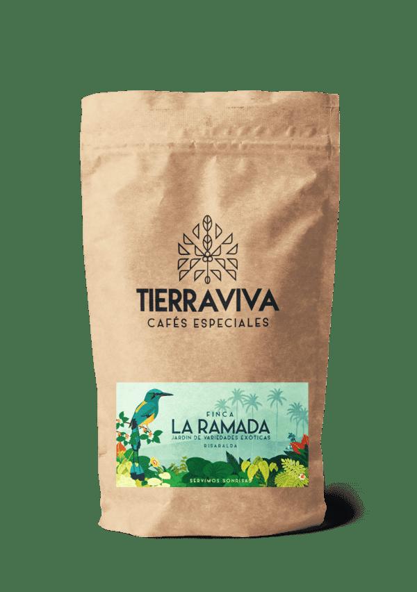 La ramada   Café exótico de Colombia Origen: Finca La Ramada - Risaralda Altura: 1.240 msnm Perfil de taza: Cacao, avellanas tostadas
