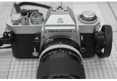 Nikon, Nikkormat EL automatisk., God, Flot kamera med taske, Nikkormat EL automatisk, med flot li.