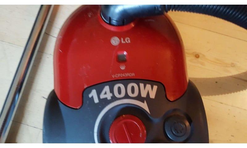 Støvsuger, LG V-CP243RDR, 1400 watt
