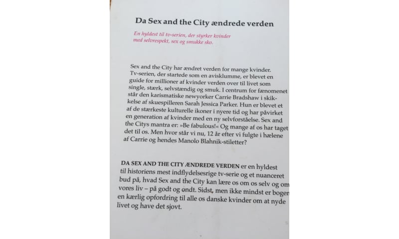 Da sex and the city ændrede verden, Iben Albinus, genre: roman