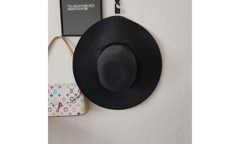 Hat, Strand hat, Amust, str. 58 cm, Sort, Filt, Ubrugt