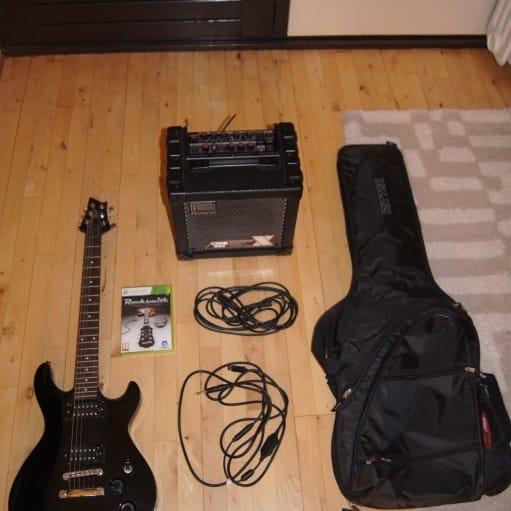 Elguitar, Cort M200, Guitar Starter Pakke Et godt solidt sæt til nybegyndere. Rigtig god stand. H.
