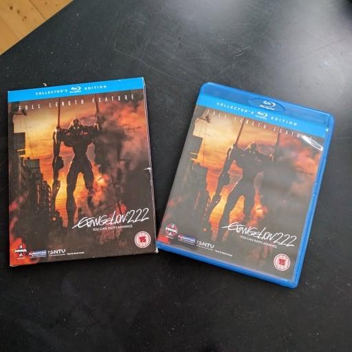 Neon Genesis Evangelion 2.22, Blu-ray, animation, Evangelion 2.22 Collectors Edition. Aldrig brug.