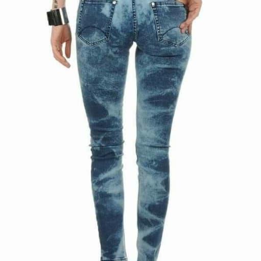 Jeans, Modeström, str. 26, Offwash blue, Bomuld & elesthan, Ubru