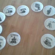 Jubilæumsplatter, KTAS, 10 stks. KTAS Jubilæumsplatter, forskellige årgange, 1977 - 1984. Pr. sty.