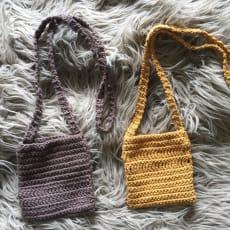 Mobiltaske, Home made, Små skulder tasker til mobilen mm 100 kr pr stk Se mine andre annoncer Ha.