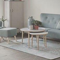 Sofa, stof, 3 pers. , model Twingo, Grå med lyse træben Længde 184 cm Nypris 7.400,00