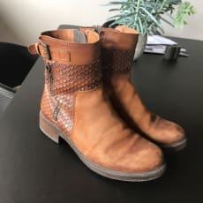 Støvler, str. 38, Nome, Brun, Læder, Næsten som ny, Sælger mine brune støvler fra Nome i størr.