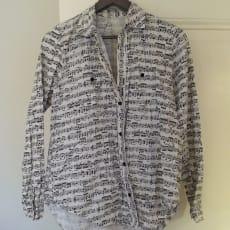 Skjorte, Hjemmesyet, str. 34, Bomuld, Næsten som ny, Jeg har syet denne skjorte i nodestof, men j.