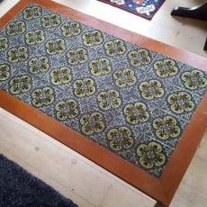 Kakkelbord, uvist merke, andet materiale, b: 75 l: 135 h: 50, har det her antik kakkelbord som er.