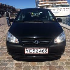 "Hyundai Getz, 1,1 GL, Benzin, 2006, km 124200, sort, 3-dørs, 14"" alufælge, Pæn og Velholdt - kø."