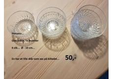Glas skåle / Is Asietter  6 stk...  Ø - 10 cm...
