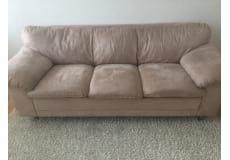 Lækker gruppe sofa af ruskind (5 pers )