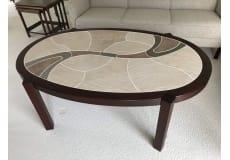 Palisander sofabord med Italienske kakler