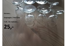 Snaps Glas - 7 stk. - Fin mønster