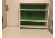 Ikea table and table shelves
