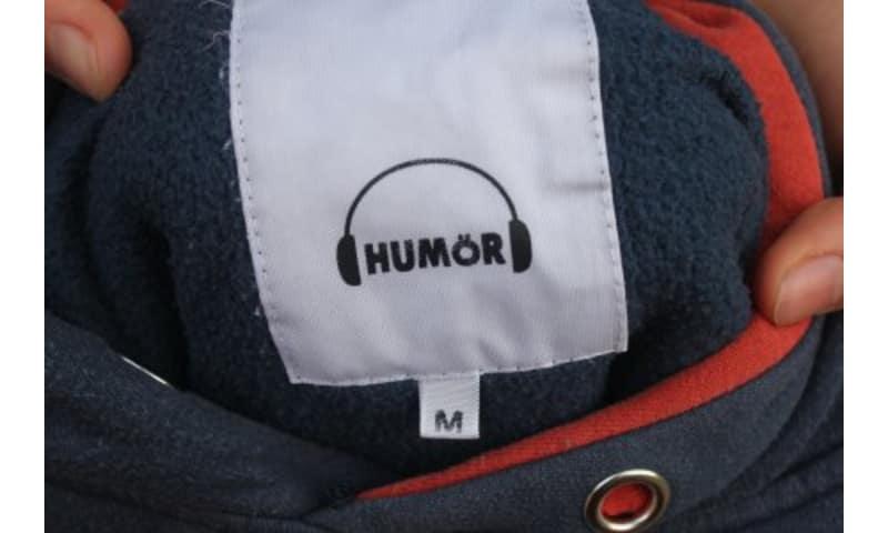 Blå HUMOR hættetrøje