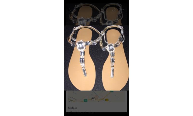 Sandaler med diamant