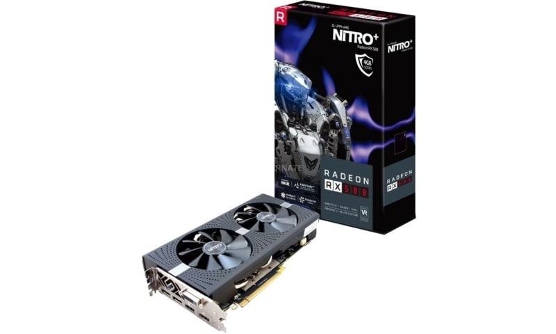 Radeon NITRO + RX 580 8 GB GDDR5 PCI-E Podwójny HDMI / DVI-D / Dual DP z płytą tylną Ograniczony