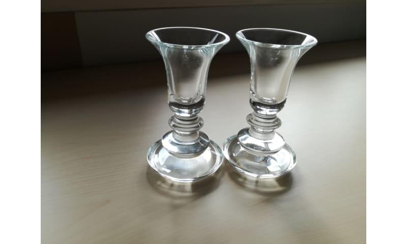 Glas lysestager