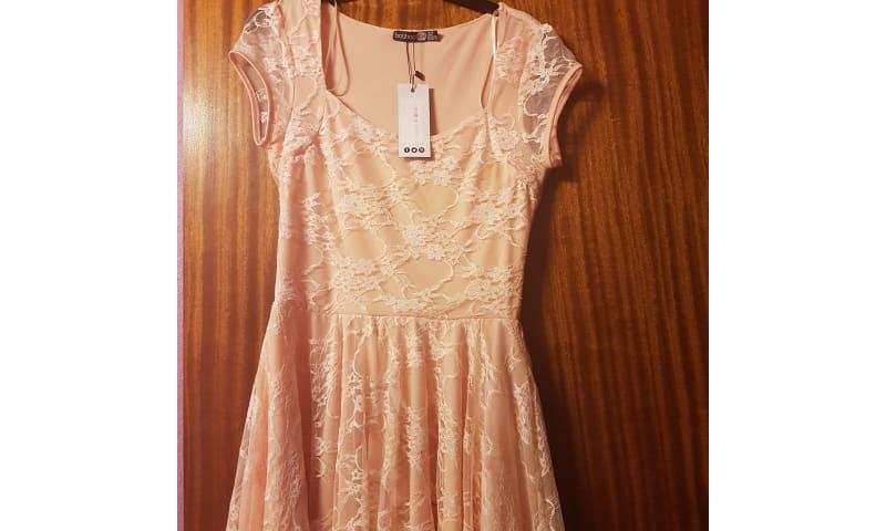 Pink Lace Kjole