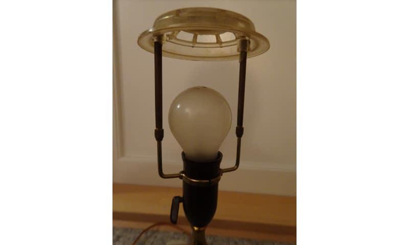Messing bordlampe.