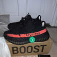 Adidas Yeezy Bosst 350 V2 core black red